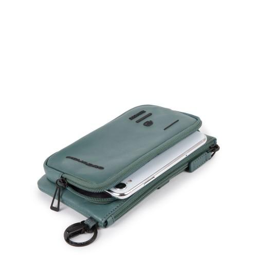 Клатч с карманом для телефона Piquadro AC4934S106/BLU