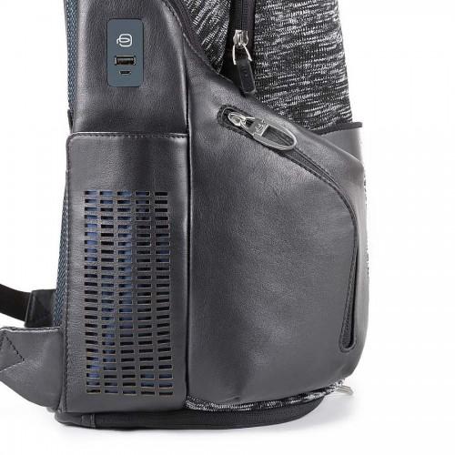 Рюкзак с подсветкой и power bank Piquadro CA2943OS38BM/N